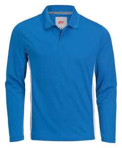 producent odzieży reklamowej niebieska bluzka zkołnierzykiem
