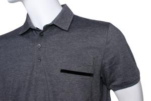szara koszulka którą zrobiła szwalnia odzieży reklamowej